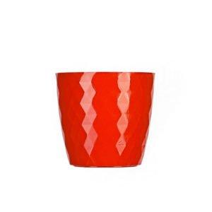 Matera Aga Cristal 14 Cm Rojo